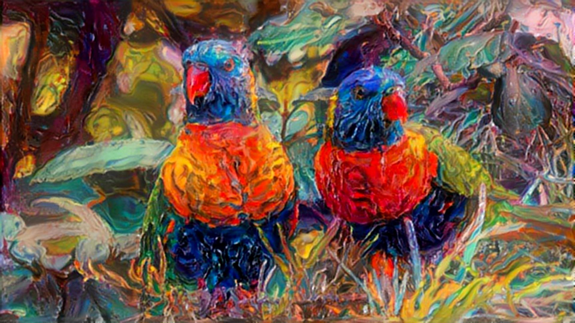 Amazing Parrot Couple articco