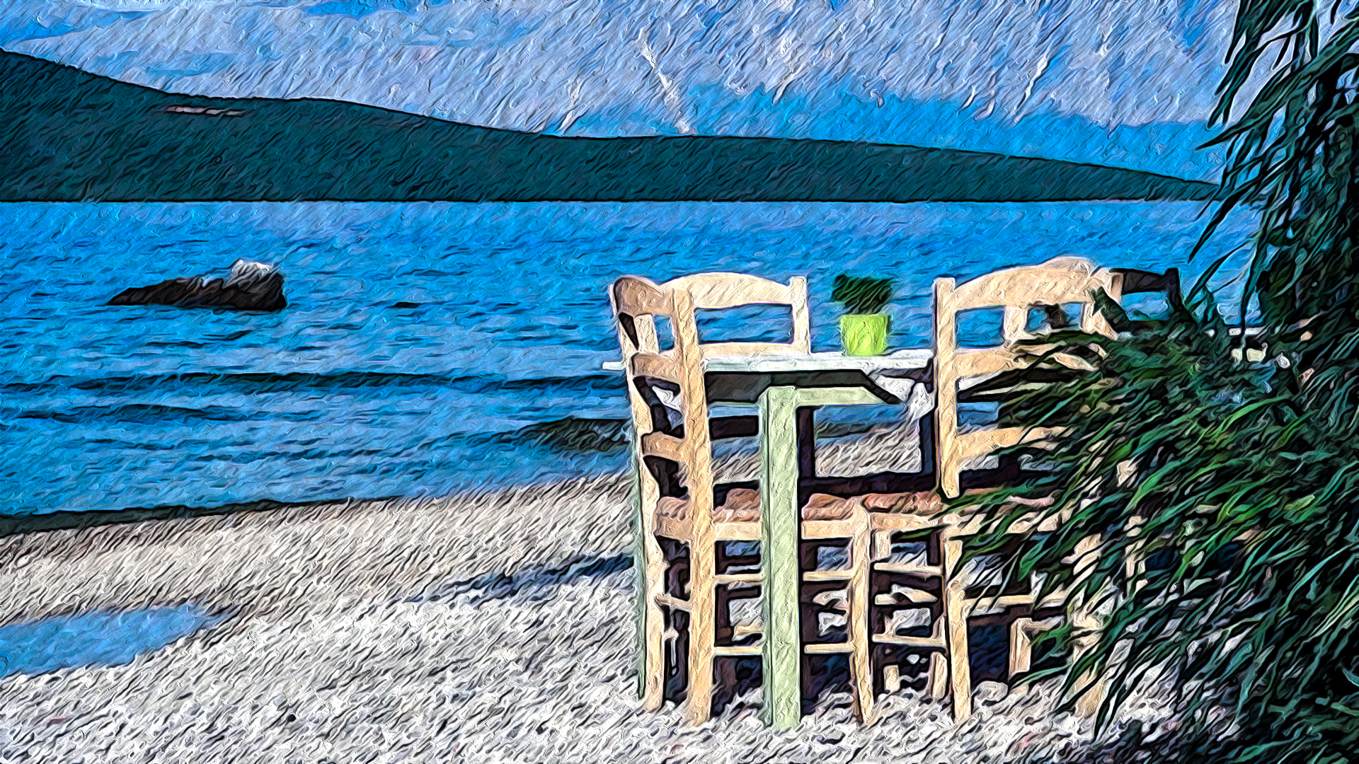 A table by the sea articcio